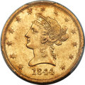 Liberty Eagles, 1844-O $10 AU55 PCGS. Variety 1....