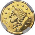 California Fractional Gold , 1866 25C Liberty Round 25 Cents, BG-824, High R.5, MS64 ProoflikeNGC....