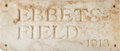 Baseball Collectibles:Others, 1913 Ebbets Field White Marble Slab Salvaged from the Famous Ticket Rotunda.. ...