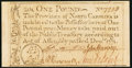 Colonial Notes:North Carolina, North Carolina December, 1771 £1 Extremely Fine.. ...