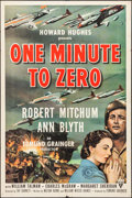"Movie Posters:War, One Minute to Zero & Other Lot (RKO, 1952). One Sheets (2) (27""X 41""). War.. ... (Total: 2 Items)"