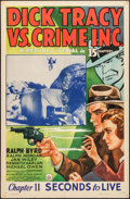 """Movie Posters:Serial, Dick Tracy vs. Crime Inc. (Republic, 1941). One Sheet (27"""" X 41"""") Chapter 11 -- """"Seconds to Live."""" Serial.. ..."""
