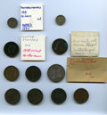 Counterstamps, Interesting Selection of 11 Counterstamped Pieces for Research: ... (Total: 11 coins)