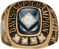 Miscellaneous Collectibles:General, 1970 Davis Cup Championship Ring Presented to Arthur Ashe. ...
