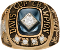 1970 Davis Cup Championship Ring Presented to Arthur Ashe