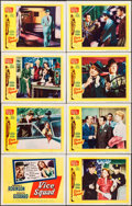 "Movie Posters:Crime, Vice Squad (United Artists, 1953). Lobby Card Set of 8 (11"" X 14""). Crime.. ... (Total: 8 Items)"