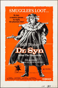 """Dr. Syn Alias the Scarecrow & Other Lot (Buena Vista, 1963). One Sheets (2) (27"""" X 41"""") & Inse..."""