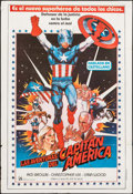 "Movie Posters:Science Fiction, Captain America II: Death Too Soon (Producciones Imperial, 1979).Argentinean One Sheet (29"" X 43""). Science Fiction.. ..."