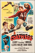 "Movie Posters:Sports, Crazylegs (Republic, 1953). One Sheet (27"" X 41"") Style A. Sports.. ..."