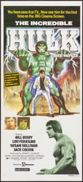 "Movie Posters:Science Fiction, The Incredible Hulk (Filmways, 1978). Australian Daybill (13.5"" X30""). Science Fiction.. ..."