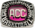 Basketball Collectibles:Others, 1984 University of Maryland Terrapins ACC Championship RingPresented to Len Bias....