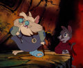 Animation Art:Production Cel, The Secret of NIMH Mrs. Brisby and Mr. Ages Production CelSetup and Custom Background (United Artists/Don Bluth, 1982...