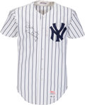 Baseball Collectibles:Uniforms, 1977 Ron Guidry Game Worn New York Yankees Jersey. ...