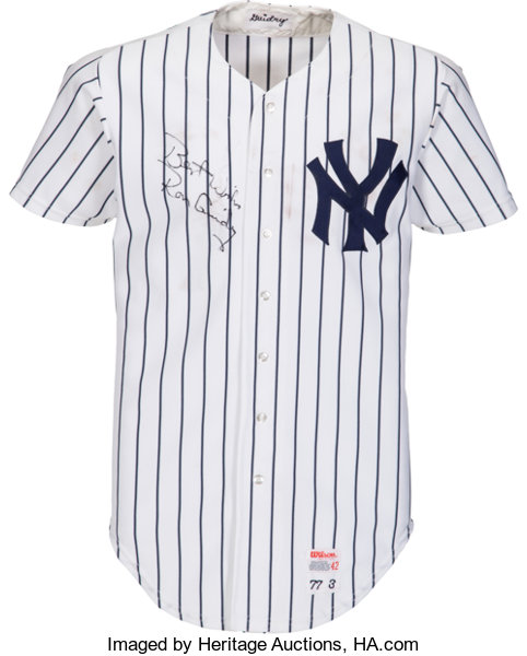 1977 Ron Guidry Game Worn New York Yankees Jersey. ... Baseball ... 1162c2fd845