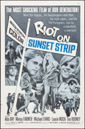 """Movie Posters:Exploitation, Riot on Sunset Strip (American International, 1967). One Sheet (27""""X 41"""") & Lobby Card (11"""" X 14""""). Exploitation.. ... (Total: 2Items)"""