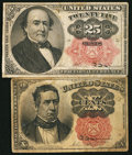 Fractional Currency:Fifth Issue, Fr. 1265 10¢ Fifth Issue Fine;. Fr. 1308 25¢ Fifth Issue Fine.. ...(Total: 2 notes)