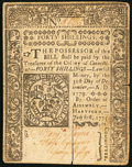 Colonial Notes:Connecticut, Connecticut July 1, 1775 40s About New, CC.. ...