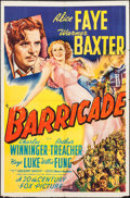 "Movie Posters:Adventure, Barricade (20th Century Fox, 1939). One Sheet (27"" X 41"").Adventure.. ..."