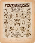 Baseball Collectibles:Photos, 1896 Cleveland Spiders Team Composite Cabinet Photograph Signed byCy Young....