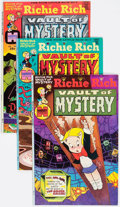 Bronze Age (1970-1979):Cartoon Character, Richie Rich Vault of Mystery File Copy Long Box Group (Harvey,1975-82) Condition: Average VF/NM....