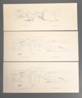 Prints:Contemporary, Group of Ninety-Five Garth Williams Illustration Proofs. Circa1970. Various sizes, majority measuring 23-1/2 x 10 inches (5...