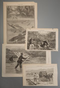 Prints:Contemporary, Group of Sixty Miscellaneous Leaves from Harper's Weekly. Circa1880. Various sizes, the largest measuring 15-3/4 x 21-1/2 i...