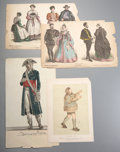 Prints:Contemporary, [Historical Costumes]. Group of Approximately 100 Engravings andPrints. [N.p., n.d. circa 1880.] Various sizes with some mo...