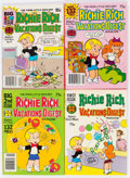 Modern Age (1980-Present):Humor, Richie Rich Best of the Years/Vacation Digest File Copy Long BoxGroup (Harvey, 1980s) Condition: Average NM-....