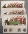 Prints:Contemporary, Group of Twenty-Five Color Engraving by Sydney Z. Lucas of ComicDepicting English Justice System. Circa 1930. Each measures...
