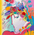 Fine Art - Painting, American:Contemporary   (1950 to present)  , Peter Max (American, b. 1937). Blushing Beauty. Acrylic oncanvas. 13 x 13 inches (33.0 x 33.0 cm). Signed upper right: ...