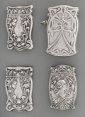 Silver Smalls:Match Safes, A Gorham and Three American Art Nouveau Silver Match Safes,Providence, Rhode Island, circa 1905. Marks to Gorham example: (...(Total: 4 Items)