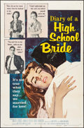 """Movie Posters:Exploitation, Diary of a High School Bride & Other Lot (American International, 1959). One Sheets (2) (27"""" X 41""""). Exploitation.. ... (Total: 2 Items)"""