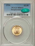 Commemorative Gold, 1926 $2 1/2 Sesquicentennial Quarter Eagle MS64+ PCGS. CAC. PCGSPopulation: (4412/2225 and 95/38+). NGC Census: (2657/1181...