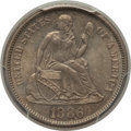 Seated Dimes: , 1886 10C MS66 PCGS. PCGS Population: (37/8). NGC Census: (50/10). Mintage 6,376,684. ...