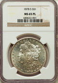 Morgan Dollars: , 1878-S $1 MS65 Prooflike NGC. NGC Census: (200/24). PCGS Population: (150/17). ...