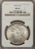 Morgan Dollars: , 1900-O $1 MS65 NGC. NGC Census: (7042/1044). PCGS Population: (6752/1181). CDN: $150 Whsle. Bid for problem-free NGC/PCGS M...