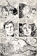 Original Comic Art:Panel Pages, John Byrne and George Perez Action Comics #600 Story Page 3 Original Art (DC Comics, 1988)....
