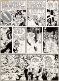 Original Comic Art:Panel Pages, Will Eisner and Wally Wood The Spirit Weekly NewspaperSection Story Page 4 Original Art dated 8-31-52...