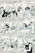 "Original Comic Art:Panel Pages, Dave Berg Meet Merton #1 ""Foreign Make"" Story Page 4 Original Art (Toby Press, 1953)...."
