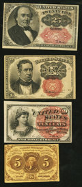 Fractional Currency:First Issue, First, Fourth, and Fifth Issue Fractionals.. ... (Total: 4 notes)