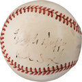 Baseball Collectibles:Balls, 1940's Hugh Duffy Single Signed Baseball--One of Two Known!...