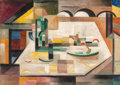Fine Art - Painting, American:Modern  (1900 1949)  , Werner Drewes (American, 1899-1985). East River, 1946. Oilon canvas. 25 x 35 inches (63.5 x 88.9 cm). Signed and dated ...