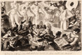 "Fine Art - Work on Paper:Watercolor, Reginald Marsh (American, 1898-1954). ""Oh How We Wish You PoorLittle Shut Ins Would Be Here With Us Tonight,"" The Stag at..."