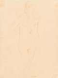 Fine Art - Work on Paper:Drawing, André Lhote (French, 1885-1962). Nude. Ink on paper. 10-1/4x 7-1/2 inches (26.0 x 19.1 cm) (sight). Signed lower center...