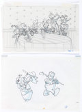 Animation Art:Production Drawing, Disney Storybook Original Drawings, Mickey, Donald, Goofy andOthers Group of 18 (Walt Disney, c. 1990s).... (Total: 18 OriginalArt)