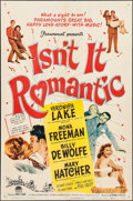 """Movie Posters:Comedy, Isn't It Romantic (Paramount, 1948). One Sheet (27"""" X 41""""). Comedy.. ..."""
