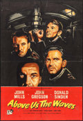 """Movie Posters:War, Above Us the Waves (Rank, 1955). British One Sheet (27"""" X 39.5"""").War.. ..."""