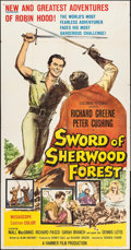 "Movie Posters:Adventure, Sword of Sherwood Forest & Other Lot(Columbia, 1960). ThreeSheet (41"" X 79.5"") & One Sheets (2) (27"" X 41""). Adventure..... (Total: 3 Items)"