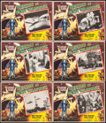 "Movie Posters:Science Fiction, Earth vs. the Flying Saucers (Columbia, 1956). Mexican Lobby Cards(6) (12.5"" X 16.25""). Science Fiction.. ... (Total: 6 Items)"
