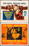 "Movie Posters:Adventure, North West Mounted Police & Other Lot (Paramount, R-1958). HalfSheets (2) (22"" X 28""). Adventure.. ... (Total: 2 Items)"